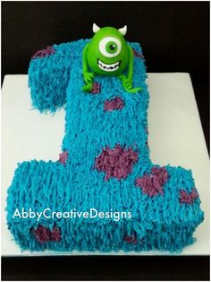 monsters inc birthday cakes - Google Search simple but cute