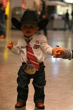 Cowboy baby will be our little. with a buckle as big as them. Cowboy Baby, Cowboy Girl, Little Cowboy, Cowboy Up, Little Man, Cowboy Humor, Cowboy Boots, Cute Kids, Cute Babies