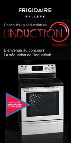 Gagnez une cuisinière à induction Frigidaire. Fin le 31 octobre.  http://rienquedugratuit.ca/concours/cuisiniere-frigidaire/