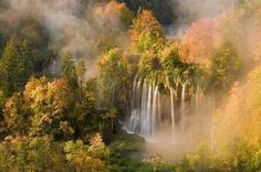 Waterfalls Gradinsko Lake – Upper Lakes, Plitvice National Park, Croatia