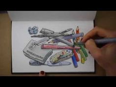 Welcome to Draw Tip Tuesday! Remember last week I showed you the contents of my sketchbag – Now let's make use of our art tools and make awesome art!  Drawing blog - Make Awesome Art