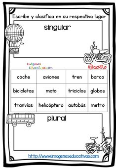 taller que contenga singular plural Spanish Worksheets, Spanish Teaching Resources, Spanish Activities, Spanish Lessons, Dual Language Classroom, Spanish Classroom, Singular And Plural, Bilingual Education, Christian School