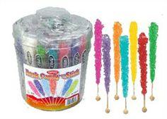 Rock Candy On Sticks 36ct Nostalgic Candy