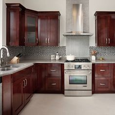 saltoro cliff countertop combined with cherry cabinets are sublimely via - Cherry Cabinets