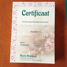 #drukwerk #ontwerp #reclamecoach Maria Hennessy - certificaat, bekijk het hele artikel op De Reclame Coach®