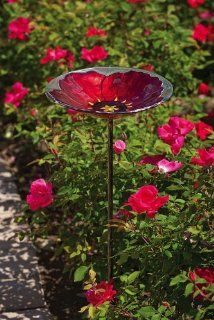 Bird bath... I LOVE this in red poppy, glass (just stunning)