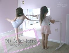 DIY ballet barre using pvc pipe