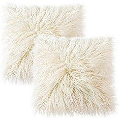 Faux Fur Cushion Covers, LIVEBOX Deluxe Home Decorative Super Soft Plush Mongolian Faux Fur Throw Pillow Cover Cushion Case (Pink,18 x 18 Inch): Amazon.co.uk: Kitchen & Home