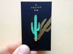 Another cactus pin Enamel pin for all occasions. Comes on a small riso printed card. Great to wear to a party, while shopping, to a wedding or