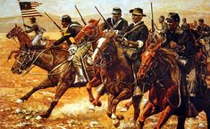 """Huachuca in Cochise County, AZ was the onetime home of every regiment of the original Buffalo Soldiers, starting in The Cavalry arrived in Dec. 1913 & stayed for 18 years. (This is the regiment credited for establishing the name """"Buffalo Soldiers. American Indian Wars, African American History Month, African American Art, American Civil War, American Soldiers, African History, Military Art, Military History, Military Service"""