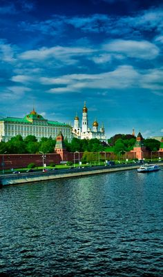 View to the Kremlin from the Moskva River. #Moscow, Russia.