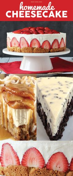 From chocolate, to strawberry, to peanut butter, to marshmallow, you will LOVE these easy Homemade Cheesecake Recipe Ideas.