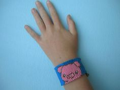 Pink Pig String #Friendship #Bracelet by MKsBraceletBoutique on Etsy, $6.00