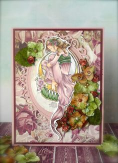 Handmade card, Prima, romantic,