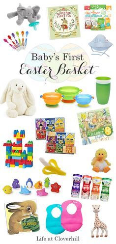 Babys erster Osterkorb - Easter DIY Projects and Decor Inspiration - Baby Christmas Present Baby Boy, Christmas Presents For Babies, Easter Presents, Easter Gifts For Kids, Easter Stuff, Baby's First Easter Basket, Easter Gift Baskets, Easter Basket For Babies, Babys First Easter Boy