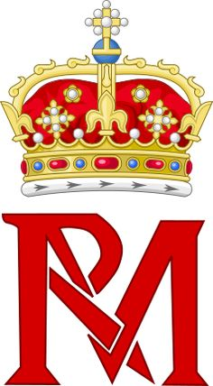 Royal Monogram Of Mary Queen Of Scots