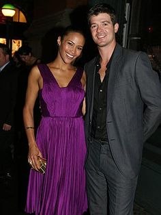 Paula Patton and Robin Thicke Taking New York, Paula Patton, Robin Thicke, All Things Purple, Celebs, Celebrities, Amazing People, Star Fashion, Front Row