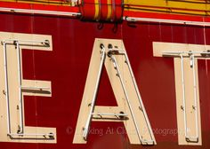 EAT sign - fine art photo - neon retro vintage diner kitchen photograph 5 x 7 Vintage Diner, Retro Diner, Fifties Diner, Fine Art Photo, Photo Art, Kitchen Signs, Diner Kitchen, Diner Sign, Diner Decor