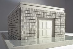 Maquette for Holocaust Memorial (a cast of the outside edge of a library, Judenplatz, Vienna, 2000) by Rachel Whitread, 1995