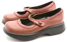 Dansko 39 womens dress shoes Size 8.5 9 maryjane mj clogs burgundy red Portugal #Dansko #Clogs @ebay