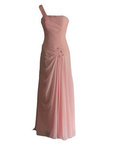 Staychicfashion Womens Pink One Strap Pleated Sequined Chiffon Evening Dresses -- Check out this great product. (This is an affiliate link) #FormalDress