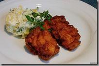 jižanské smažené kuře a letní bramborový salát