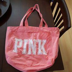 Coral colored tote bag Coral colored tote bag PINK Victoria's Secret Bags Totes