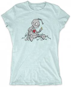 Evoke Apparel - Robot Butterfly Womens Graphic T-shirt, $27.00 (http://www.evokeapparelcompany.com/robot-butterfly-womens-graphic-t-shirt/)  Unlikely friends share a moment on this Robot butterfly womens graphic t-shirt.
