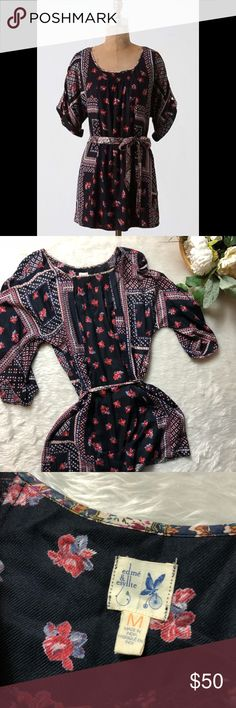 NWOT Edme & Esyllte Patchwork Peasant Blouse This Tunic is in perfect condition!  Size medium  Pit to pit is approx 21 inches  Length is approx 31 inches  Smoke and pet free home! No flaws like stains or holes! No modeling No trades! Anthropologie Tops Tunics