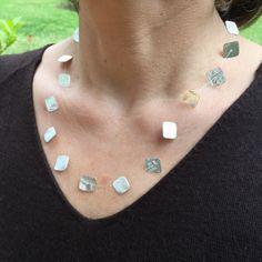 Dos Riveras Movable Square Silver Necklace