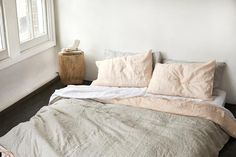 peach/grey stripe duvet cover