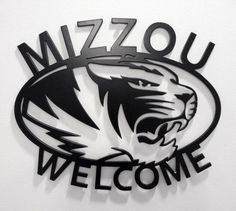 Love this metal Mizzou welcome sign.  $19.99