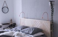 just a pic. but perfect for spencer's room Dream Bedroom, Home Bedroom, Modern Bedroom, Girls Bedroom, Bedroom Decor, Diy Interior, Backboards For Beds, Sofa Deals, Best Leather Sofa