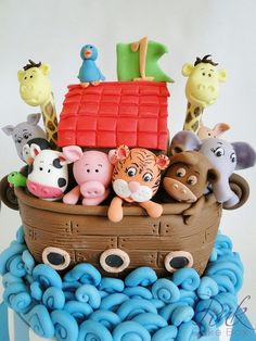 Noah's Ark Cake complete with cute animals