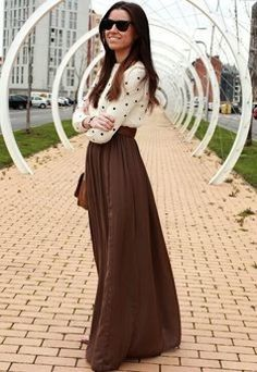 Длинная юбка в пол 50 фото