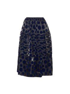 Polka-dot velvet appliqué skirt  | Kolor | MATCHESFASHION.COM US