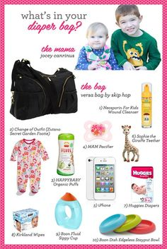 On to Baby: What's in your diaper bag?