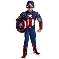 Criança de venda directa vingadores capitão américa traje muscular disfraces de halloween super herói cosplay fancy dress 2 pcs Outfit