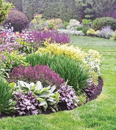 75 Fresh beautiful spring garden landscaping for front yard and back yard . - 75 fresh beautiful spring garden landscaping for front yard and back yard ideas – Homekover – g - Front Garden Landscape, Landscape Edging, Garden Shrubs, Front Yard Landscaping, House Landscape, Landscaping Ideas, Landscape Art, Landscape Paintings, Landscape Photography