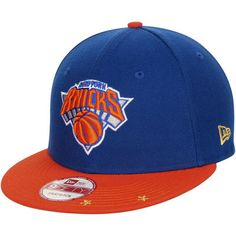 new style be822 017ba New York Knicks New Era 9FIFTY Current Logo Star Trim Commemorative  Champions Snapback Adjustable Hat - Royal Orange