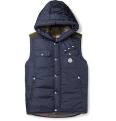 MONCLER Anis Quilted Shell Hooded Down Gilet. #moncler #cloth #coats and jackets