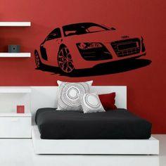 "Sticker décoratif ""Audi R8""  http://www.artandstick.be/custom.php5?ref=3437372c3130&n=Stickers-Chambre-ado-Audi-R8"