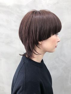 Mullet Hairstyle, My Hairstyle, Cute Bob Haircuts, Bob Hairstyles, Mushroom Hair, Style Salon, Creative Hairstyles, Hair Images, Hair Designs