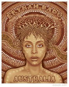 Erykah Badu Australia poster