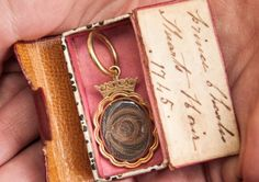 A locket containing some of Bonnie Prince Charlie's hair. Picture: Phil Wilkinson