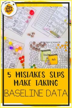 Speech therapy data collection is so important. Here are 5 common mistakes SLPs make when taking baseline data during back to school. #schoolslp