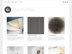 Grid+Portfolio+Free+WordPress+Theme - CoolHomepages Web Design Gallery