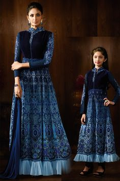 designer Same Outfits For Mom/baby girl Online Canada,Mother Daughter Combo Long Anarkali Suit Mother Of Groom Dresses, Mothers Dresses, Girls Dresses, Baby Dresses, Mom Daughter Matching Dresses, Mother Daughter Outfits, Mother Daughters, Indian Dresses, Indian Outfits