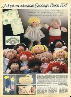 And finally, getting a Cabbage Patch doll whether you really wanted one or not: