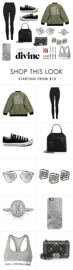 """street style;"" by albarebekka on Polyvore featuring Chicnova Fashion, Topshop, Converse, STELLA McCARTNEY, Christian Dior, MANGO, Mark Broumand, Casetify, Calvin Klein and Chanel"